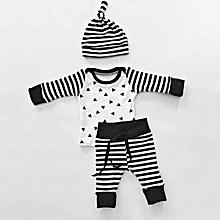 Newborn Kids Baby Boys Girls 3PCS Set Outfits Clothes T-shirt +Pants Legging+Hat