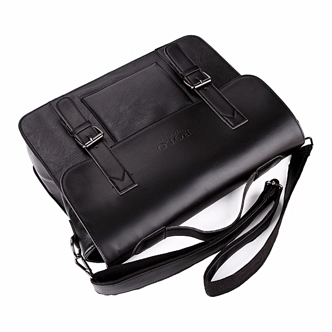ee171ec11 ... VICUNA POLO Business Men Bag Double Belt Decor Brand OL Leather Men  Briefcase Bag lawyer Doucument ...