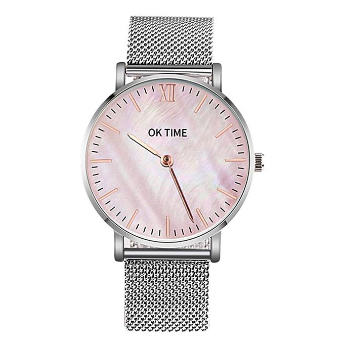 52c21558962 Simple Slim Watch Analog Quartz Waterproof Stainless Steel Mesh Strap Band  Thin Casual Elegant Wrist Watches