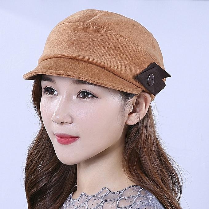 3634bf1145a Fashion Winter Lady Vogue Korea Style Warm Wool Blending Beret Caps Outdoor  Flat Bonnet Hat