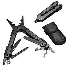 Outdoor Portable Stainless Steel Survival Multi Tool Plier Pocket Carabiner EDC