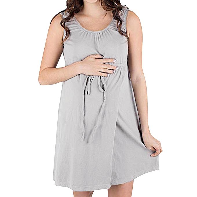 c926b11cbed28 Fashion Women Maternity Nursing Nightgown Nightdress Hospital Bag Pregnancy  Breastfeed