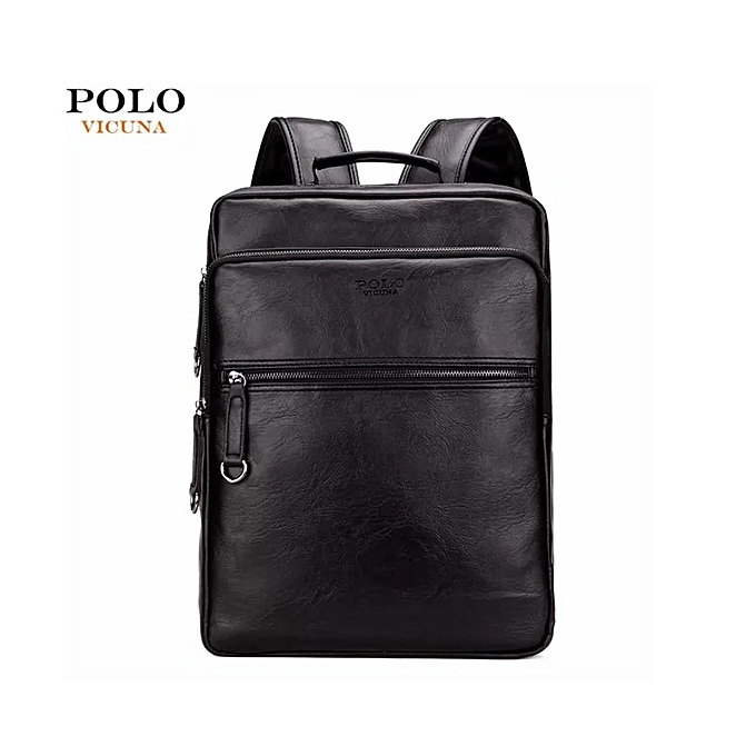 a01737661fb Vicuna Polo High Quality Designer Leather Backpack and Laptop Bag ...