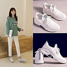 Spring And Summer Women's Sport Shoes Woven Shoes-White