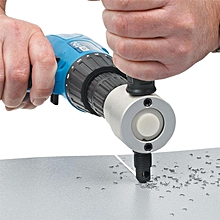 Double Head Metal Sheet Cutter Drill Attachment - Silver