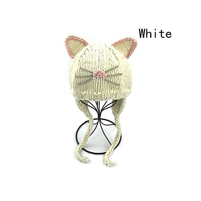 Buy Fashion New Cute Cat Ear Children Wool Cap Knitted Hat Autumn ...