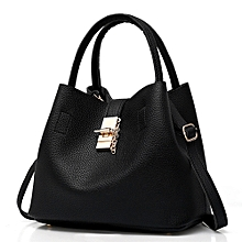 2Pcs Women  039 s Fashion Leather Shoulder Bags Buns Mother Bag with Handbag  BK ed5e40b5ff878