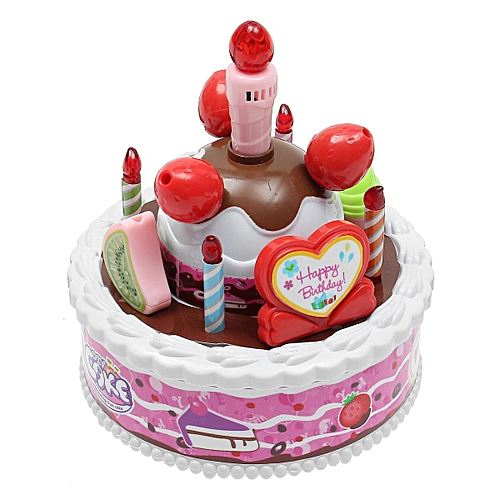 Generic Electric Kid Birthday Music Cake Toy Candle Can Be Blown Out