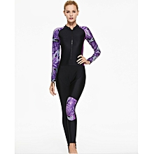 Ms. long-sleeved one-piece diving suit spandex zip-front winter swimming surf clothing snorkeling wetsuit