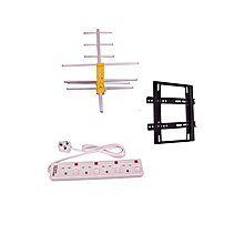 Digital Receiver Antenna/Aerial + a FREE TV Wall Bracket ( 14''-42'') and a FREE 4-Way Extension