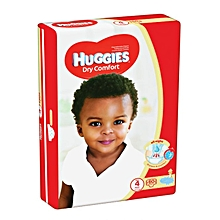 Dry Comfort Disposable Diapers Jumbo Pack Size:4 (0 -36 Months) - 60 Diapers