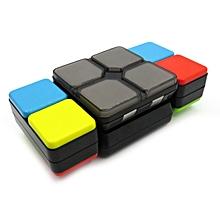 Electric Speed Magic Cube PVC Sticker Block Puzzle Sugar Color-