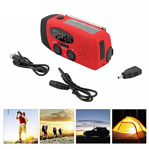 Protable Emergency Solar Hand Crank Dynamo AM/FM/WB Weather Radio LED  Flashlight Charger Waterproof Emergency Survival Tools Hot