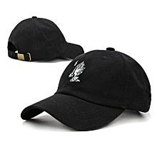 Baseball Cap Hip Hop Hat Fashion Snapback Caps -Black