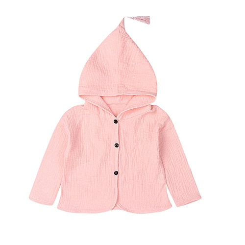 bfcc3ac16 Eissely Toddler Infant Baby Kids Girls Boys Solid Warm Hooded Coat ...