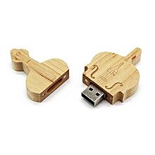 Creative Maple Wood Pen Drive Violin Shaped USB2.0 Flash Drive Memory Stick wood color