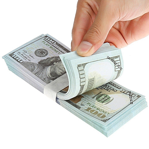 100PCS Dollar Bill Souvenir Banknote Commemorative Banknotes Realistic Fake  Play Money With U S Characteristics Real Looking Double-Sided Printing for