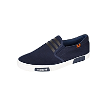 Navy Slip On Casual Shoes - Small Fitting