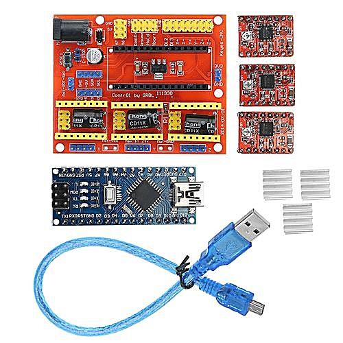 Arduino CNC Shield V4+Nano 3 0+A4988 Driver GRBL Compatible