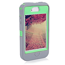 Hybrid Rubber Rugged Combo Matte Case Hard Cover Protect For Iphone 4/4S-Gray Green