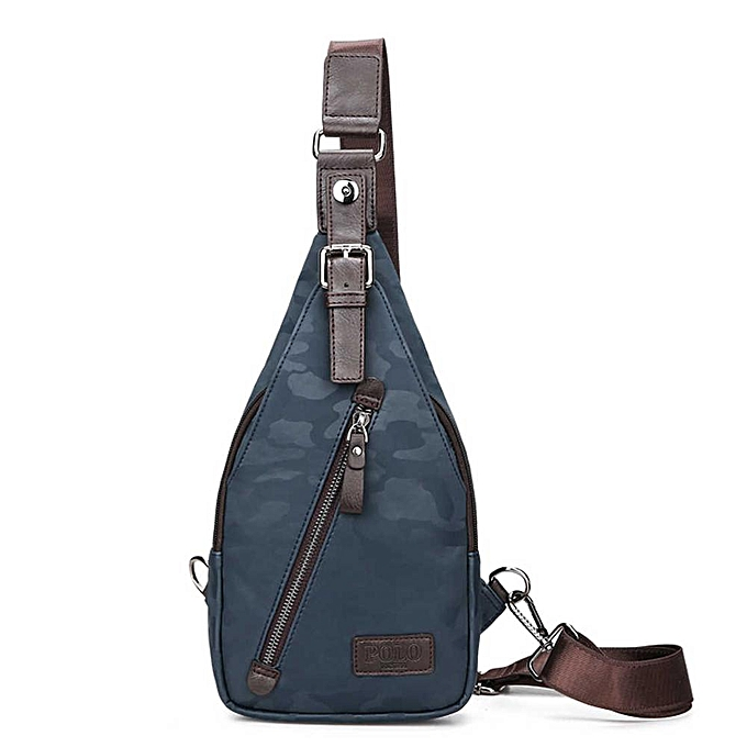 f27a49af16ff VICUNA POLO Famous Brand Theftproof Magnetic Button Open Leather Mens Chest  Bags Fashion Travel Crossbody Bag Man Messenger Bag(Camouflage Blue)