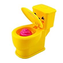 Kids Cartoon Plastic Mini Spray Water Toilet Toys Funny Trick Toy Baby Bath Toys-Array