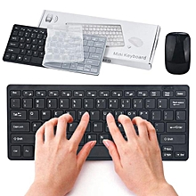 Slim Mini 2.4G Cordless Wireless Optical Keyboard Mouse Kit For PC Laptop Win7/8-Black