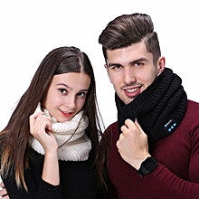 Mens Womens Autumn Winter Warm Wireless Bluetooth Music Knitted Scarf Couple Collar