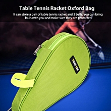 Stationery Holder Oxford Table Tennis Racket Case With Outer Bag Ping Pong Balls Accessory