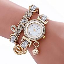 bluerdream-Stylish Simplicity Weave Bracelet Lady Womans Wrist Watch SL-Silver