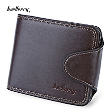 Thread Solid Color Men Horizontal Cash Coin Photo Card Wallet_HORIZONTAL