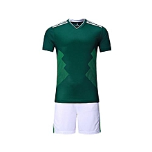 13aaf2a7e 2018 Customized World Cup Football Soccer Team Sports Training Shirts And  Shorts Jersey Set-Green