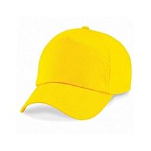 Yellow Plain Outdoor Activities Cap