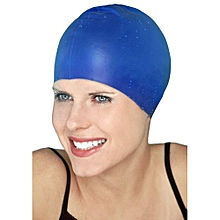 Water Resistant Silicone Swimming Cap blue