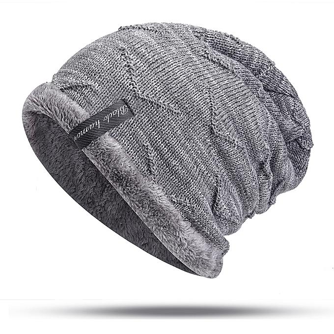 e85977b7a Lesov Warm Plush Fall Winter Hats Men Knitted Beanie Hat Hip Hop Skull Cap  Slouch Beanies Sport Mens Hat Knitting Gorros Chapeu