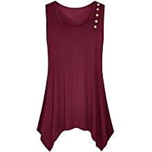 Generic Womens Lady Fashion Soild Blouse Vest Fashion Button Sleeveless T-Shirt A1