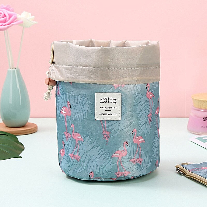 17eb072cf8dd Multifunction travel Cosmetic Bag Neceser Women Makeup Bags Toiletries  Organizer Waterproof Storage Make up Cases(Blue flamingo)