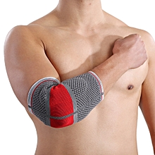 1pc Mumian S02 Three - Dimensional Weaving Silica Gel Red Black Elbow Pad -RED BLACK