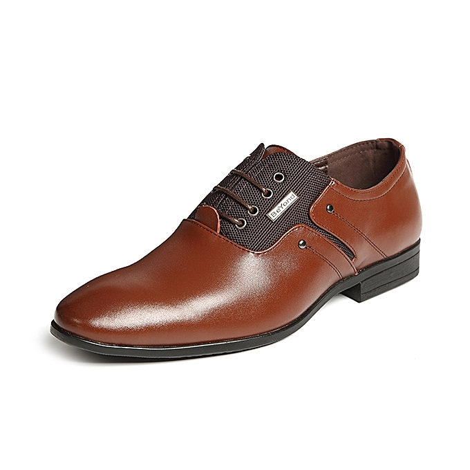 Banggood Shoes Men Genuine Leather Elastic Farbic Business Formal Shoes 1eff61ae813