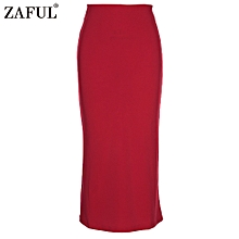 Sexy Pencil Ankle-Length Long Beach Party Slim Flare Skirts - Red