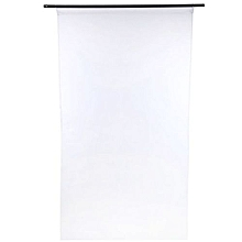 1M x 2M Pure Color Sheer Window Curtain - White