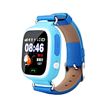 Q90 1.22 inch IPS Color Touch Screen Lovely Children Smartwatch GPS Tracking Wifi Watch, Support  SIM Card,Positioning Mode, Voice Call, Pedometer, Alarm Clock,Sleep Monitoring,SOS Emergency Telephone Dialing(Blue)