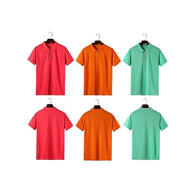 f5414bd546e2 ... New Fashion Men And Women Available Formal Or Casual Summer Polo Shirts- Yellow ...