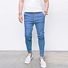 d8a6ab7586039e New Men's Skinny Jeans Fashion Casual Feet Elastic Pants Thin Cotton  Pants