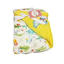 Super Soft Baby Double Layer Receiving Blanket / Shawl  -  Yellow