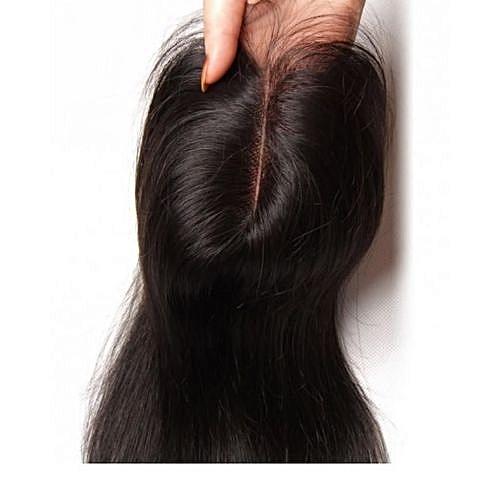 100% Peruvian Human Hair Closure 12 inches ヨ 1B