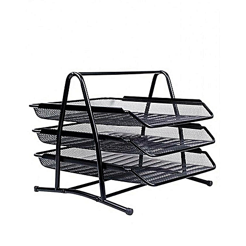 3 Tier Mesh Desk Tray Office Organizer Sliding Doent Trays