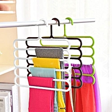 Anti-slip asticTrousers Pants Hanger Closet Rack S-type 5 Layers