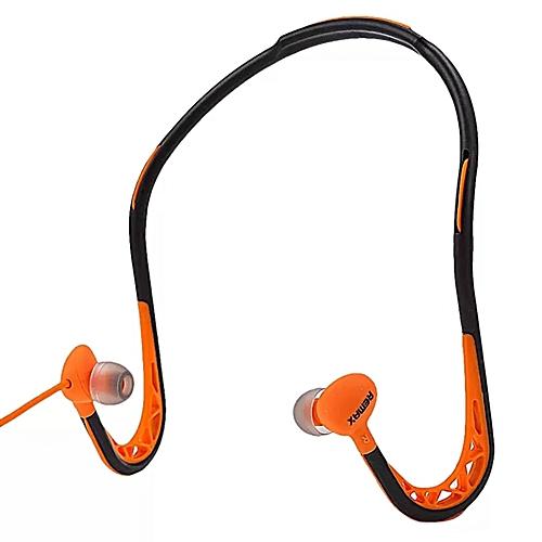 45aad211979 Remax Remax RM-S15 3.5mm In-Ear Sports Sweat-proof Neckband Earphones ( Orange) WANKAI