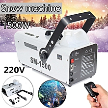 1500W High Output Snow Machine Artificial Snowflake DJ Disco w/Remote & 5L Fluid 220V